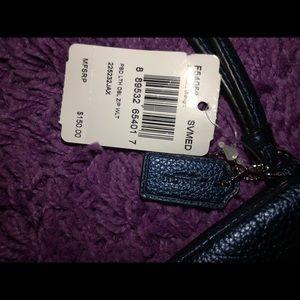 Coach Bags - Authentic Coach Zip-Around Wallet - Navy Blue